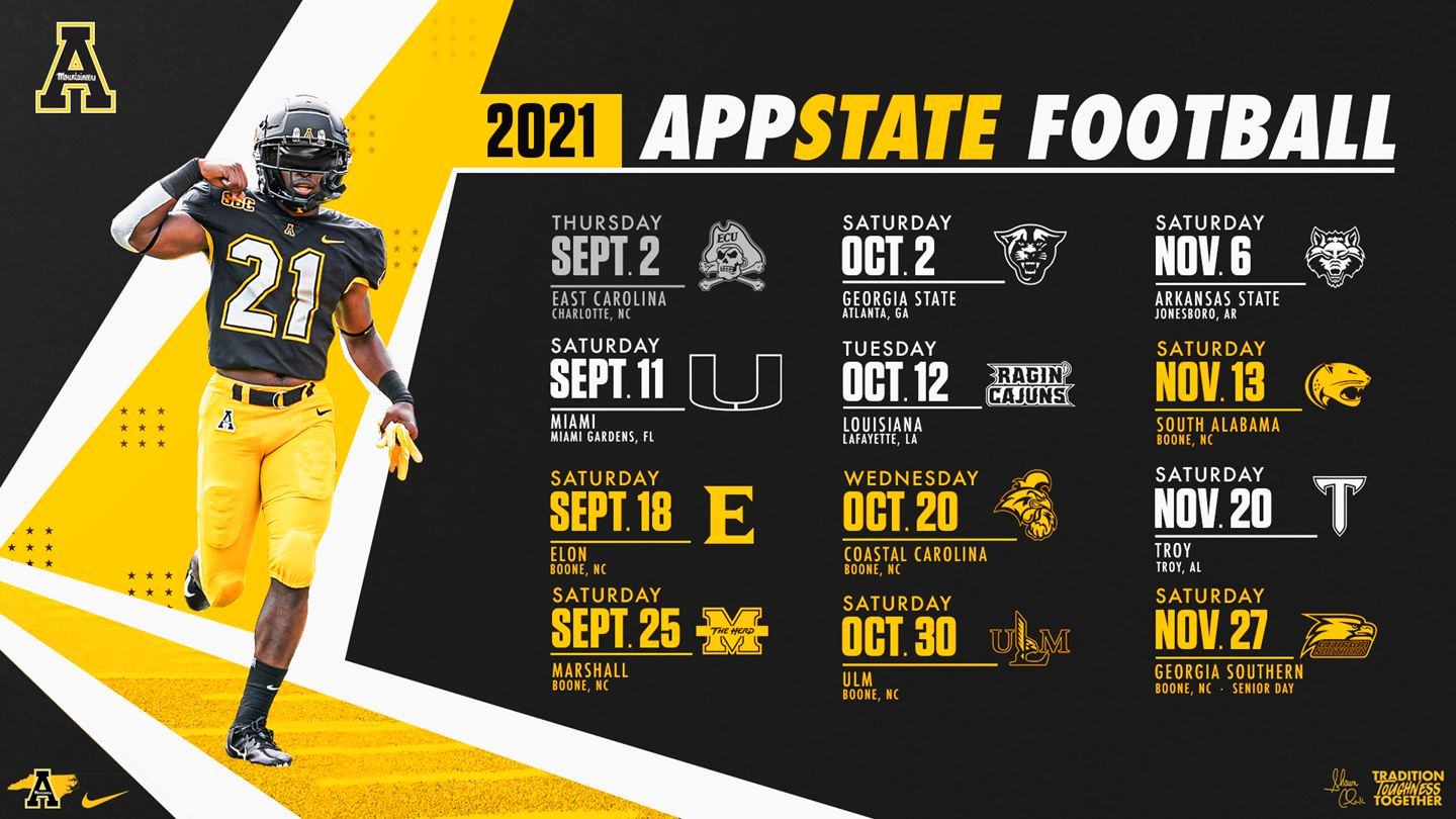 2021 App State Football Schedule Unveiled