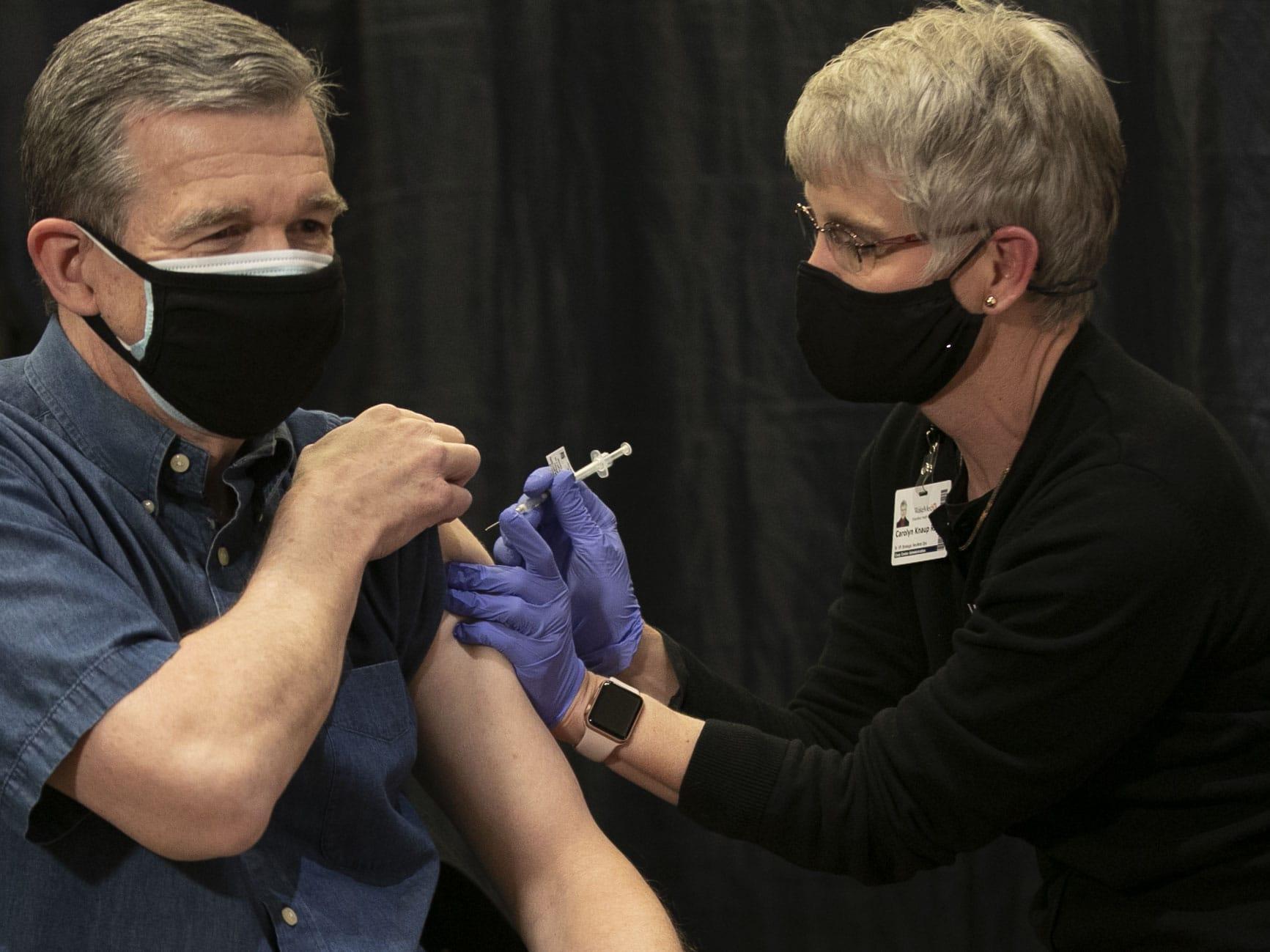Governor Cooper Receives a COVID-19 Vaccine