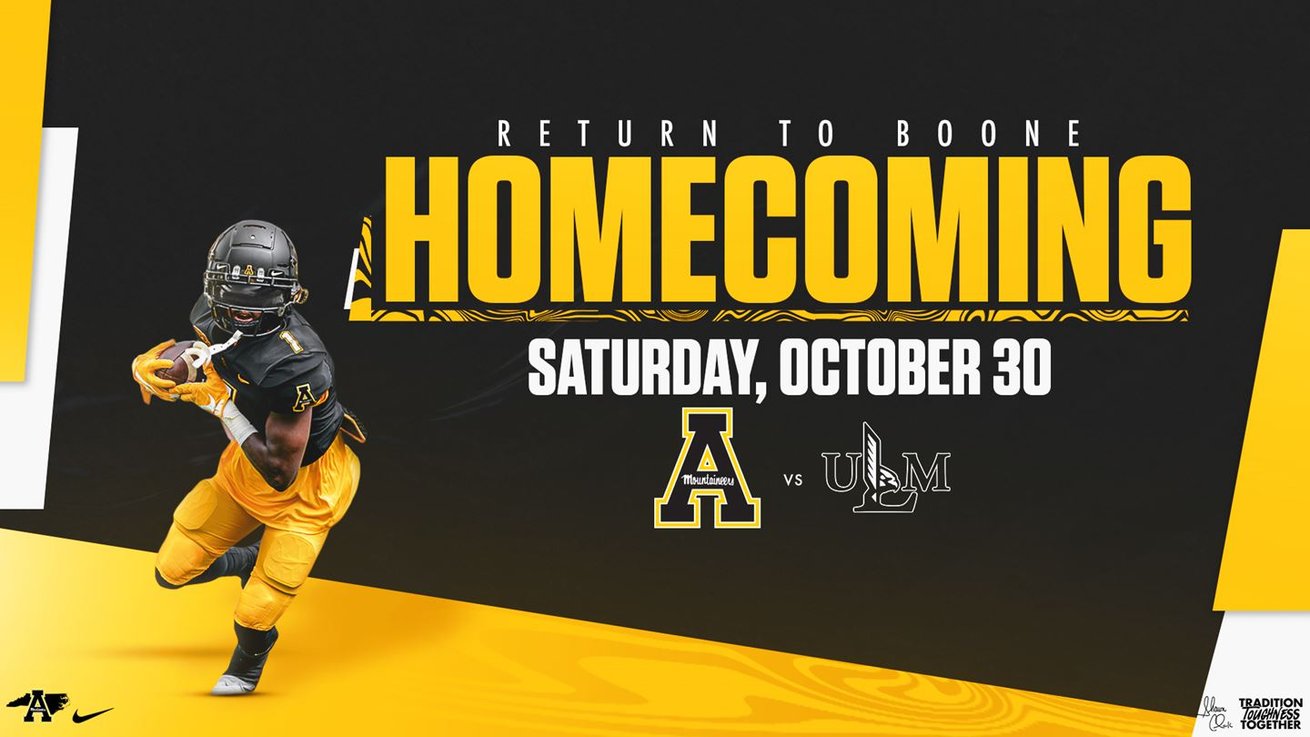 App State's 2021 Homecoming Football Game Set for Oct. 30