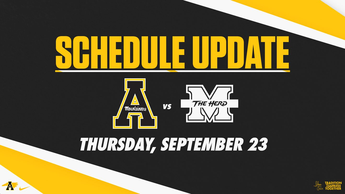 App State-Marshall Football Game Moved to Thursday, Sept. 23