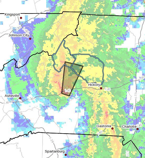 Tornado Warning for Avery County, NC, Caldwell County, NC