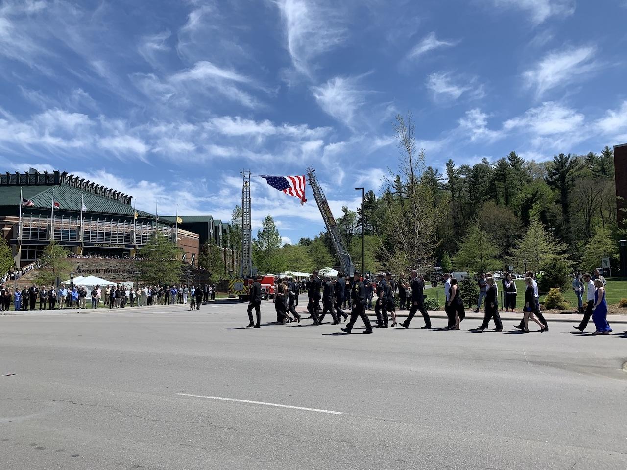 Funeral services for Sgt. Chris Ward & K-9 Deputy Logan Fox - Videos & Photos