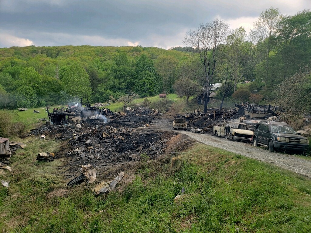 Former home of award-winning storyteller Ray Hicks destroyed by fire