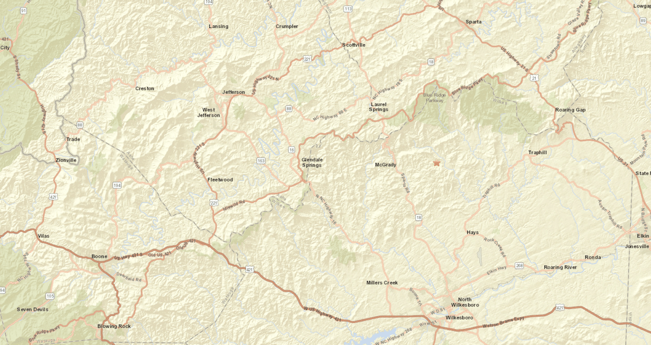Two earthquakes recorded in Wilkes County just after midnight