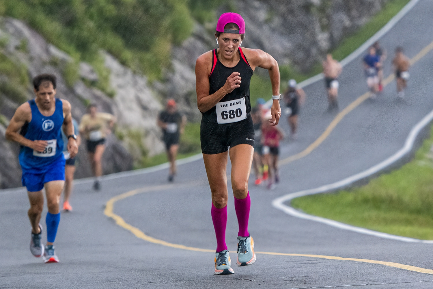 Locals claim top spots in return of race up Grandfather Mountain