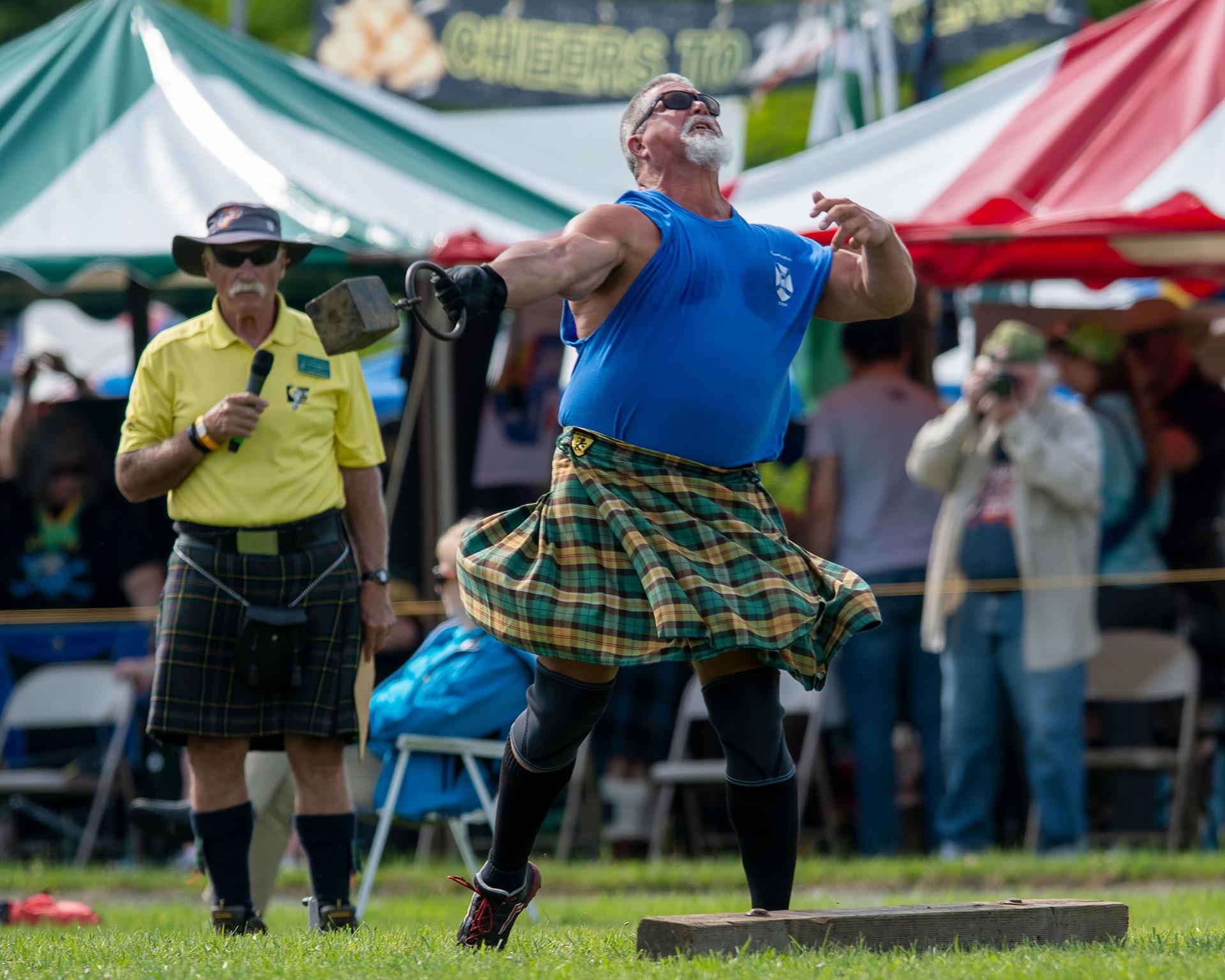 John 'The Mountain' Van Deusen rises above competition at Highland Games