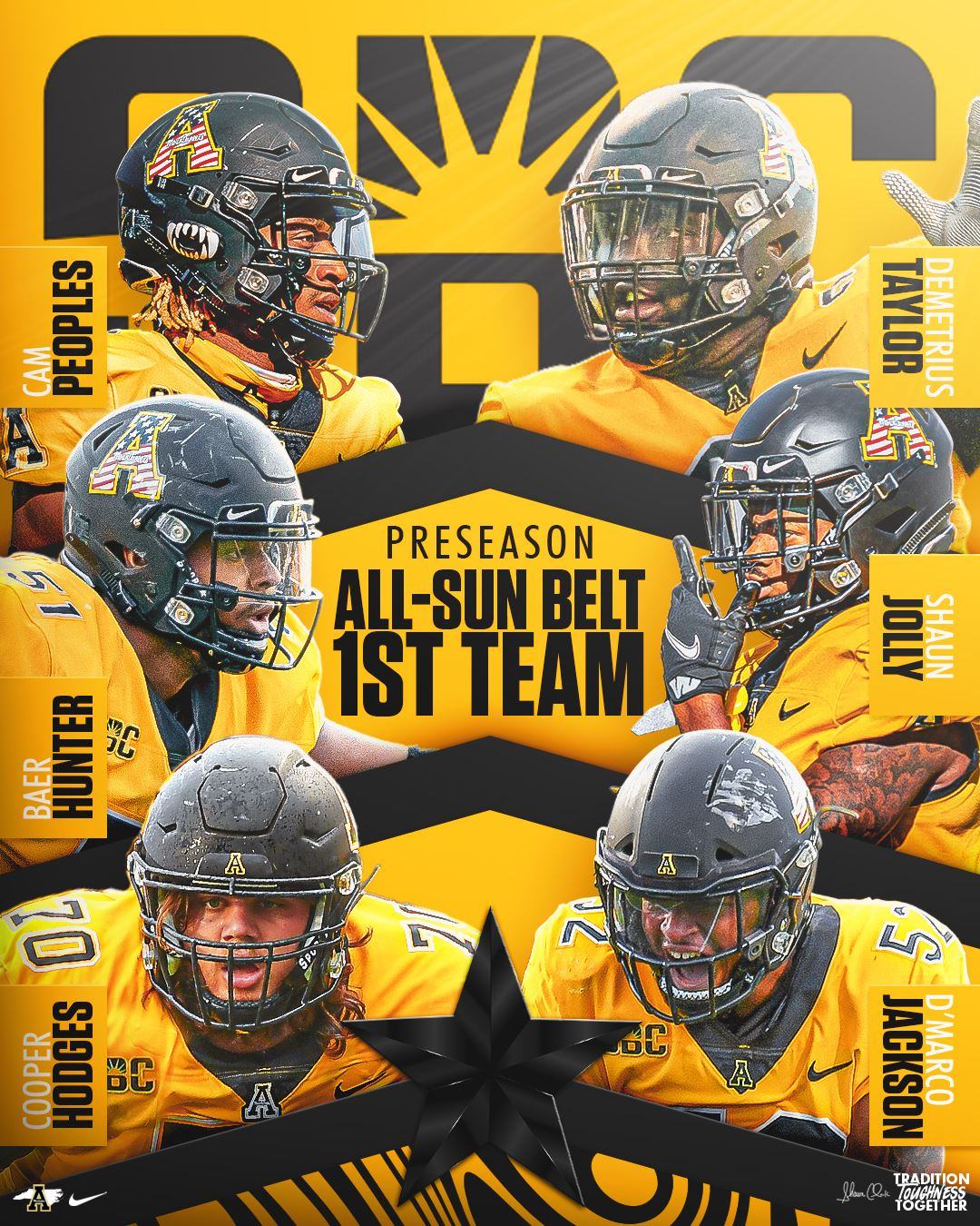 App State Football Voted Co-Favorite in Sun Belt East