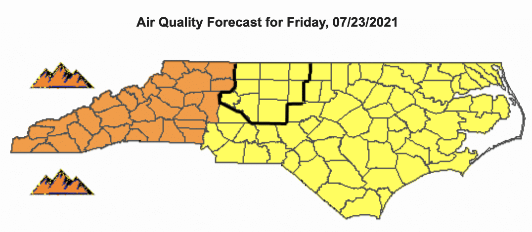 Air Quality Alert extended until 12am Friday night July 23, 2021