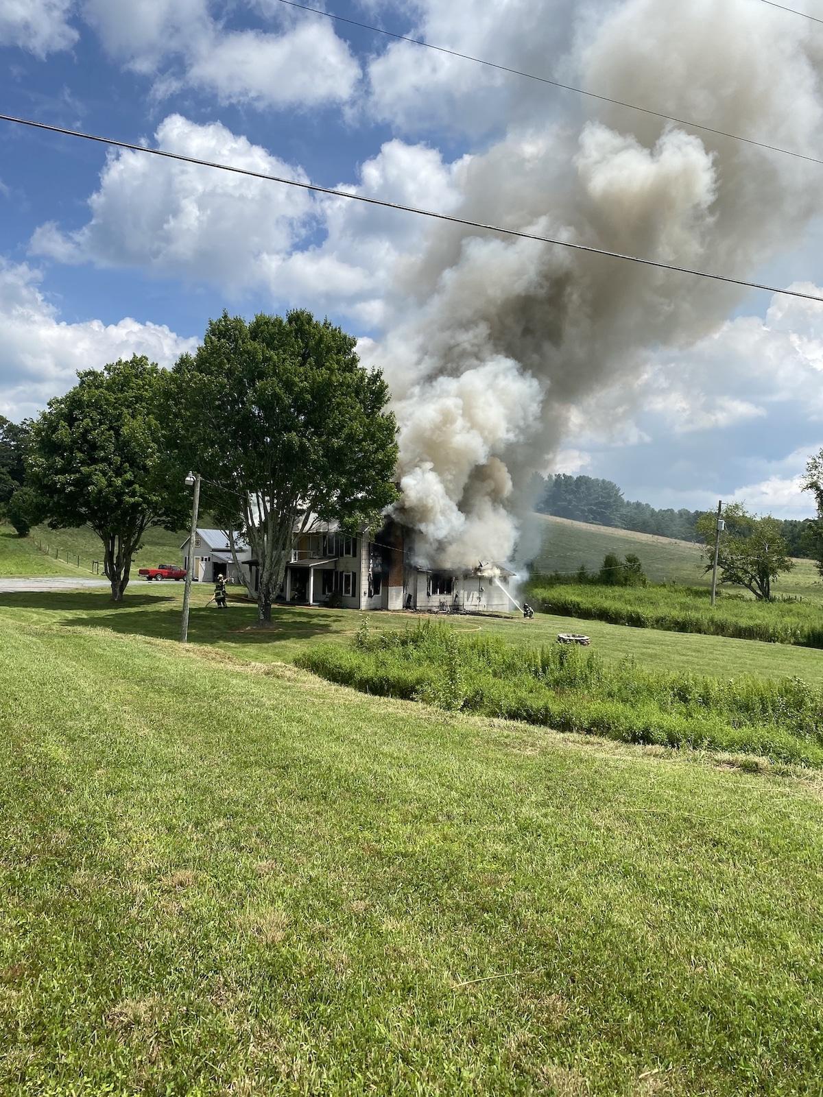 Friday afternoon house fire in Deep Gap still under investigation