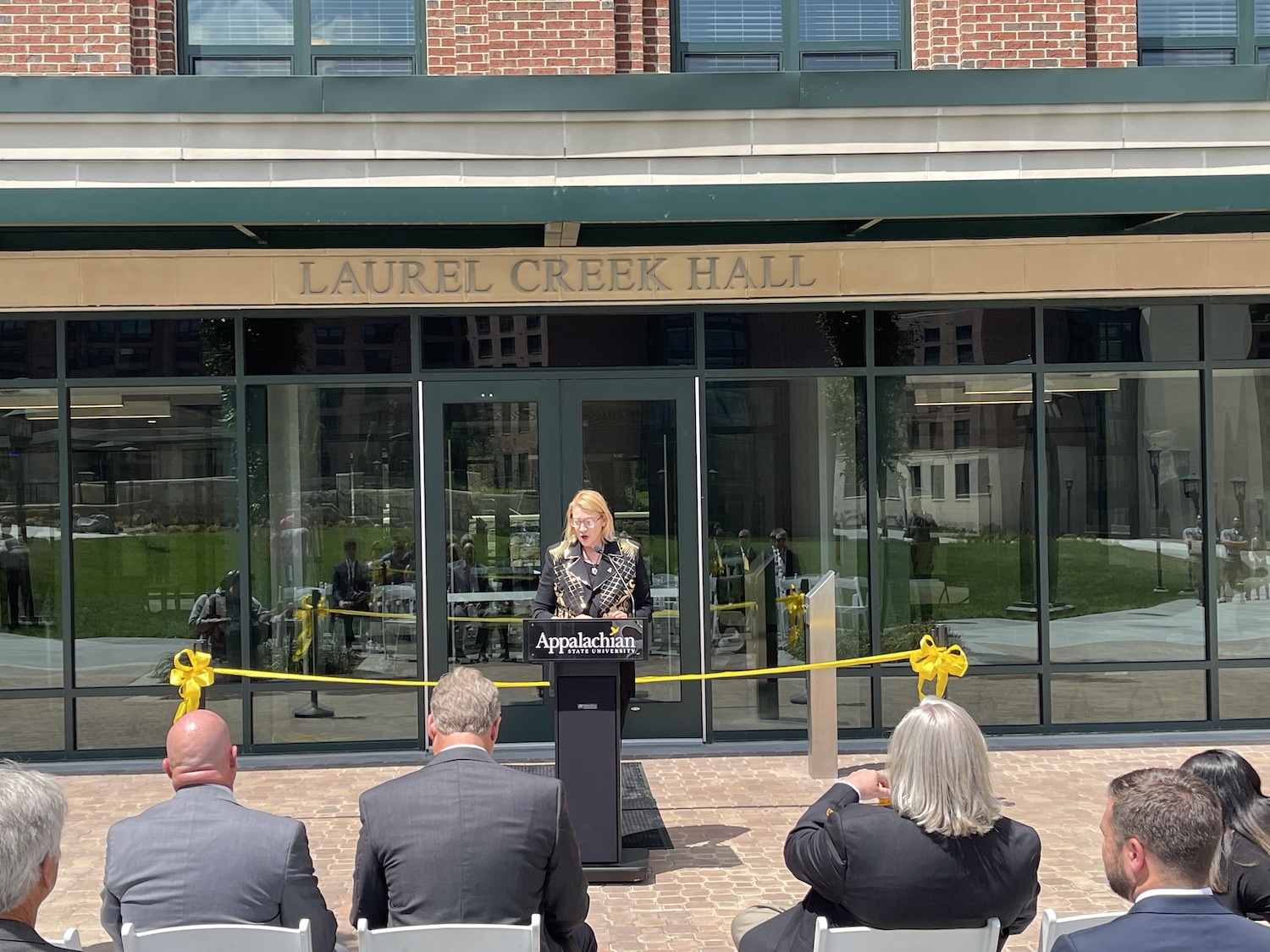 Laurel Creek Hall ribbon cutting on AppState campus - Friday July 30, 2021