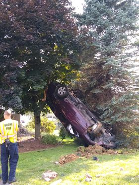 Rollover wreck on Shadowline Drive at Appalachian Brian Estates on Monday