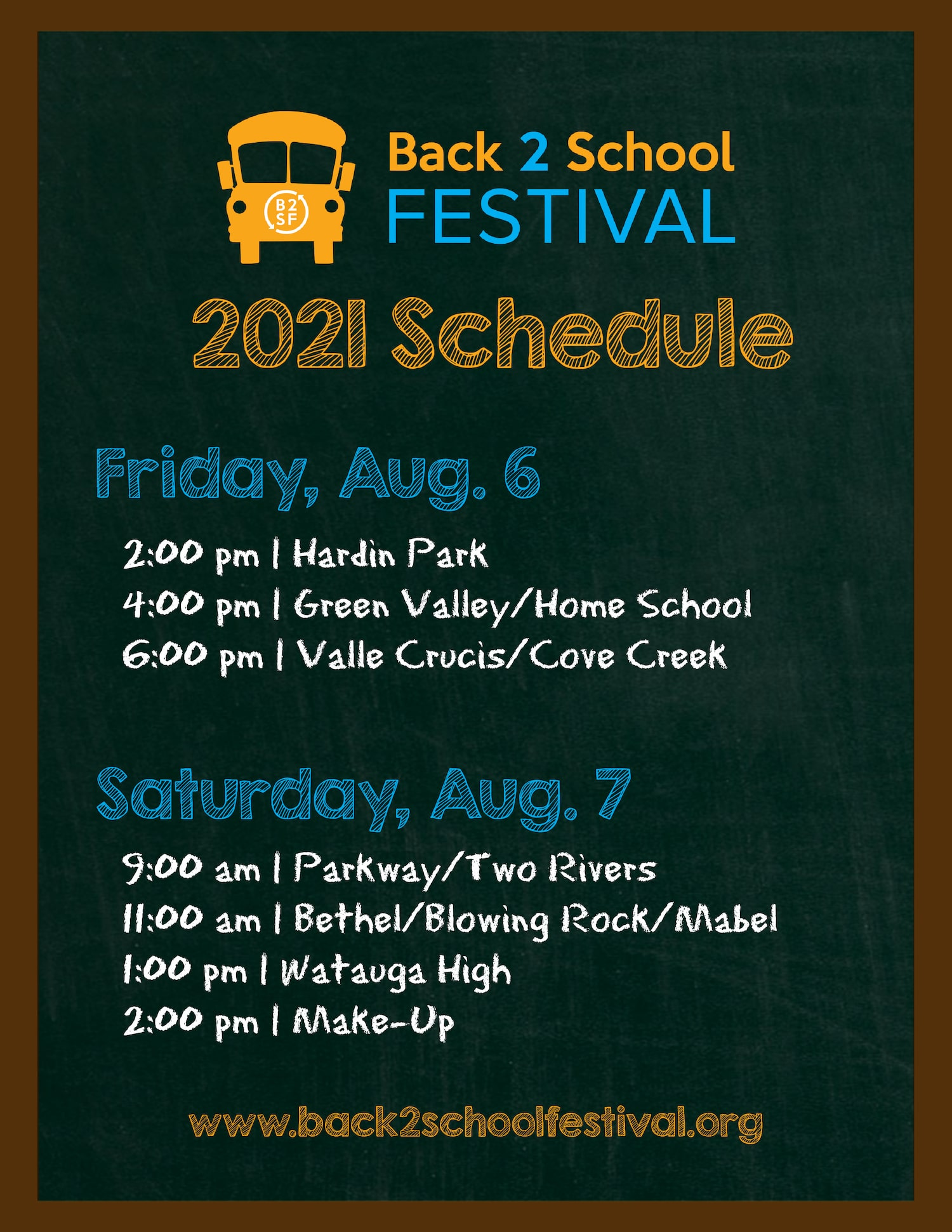 Annual Back 2 School Festival to be Held Aug. 6-7, 2021