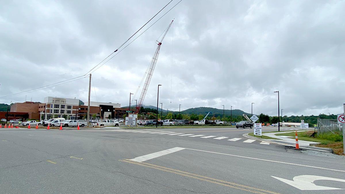 New road to enter Watauga Medical Center & Seby B. Jones Regional Cancer Center