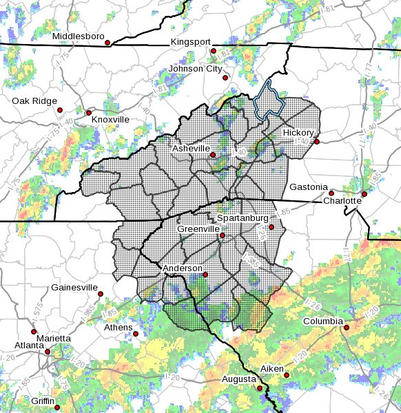 Flash Flood Watch for Avery County, NC - August 17-18, 2021