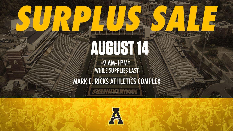 App State Athletics Surplus Sale this Saturday