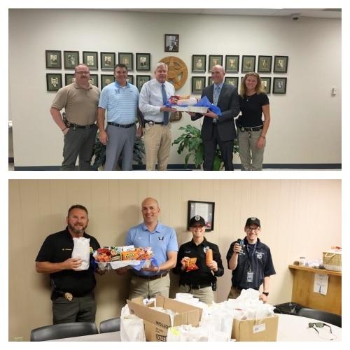 Watauga County Schools administrators prepare gifts for local law enforcement