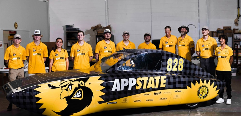 App State's solar vehicle team takes Formula Sun Grand Prix 2nd place, qualifies for 1,000-mile road challenge