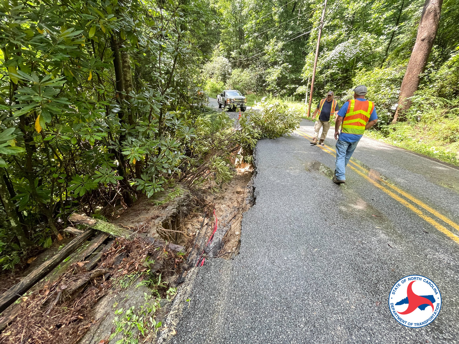 NCDOT Crews Continue Repairing Damage from Fred