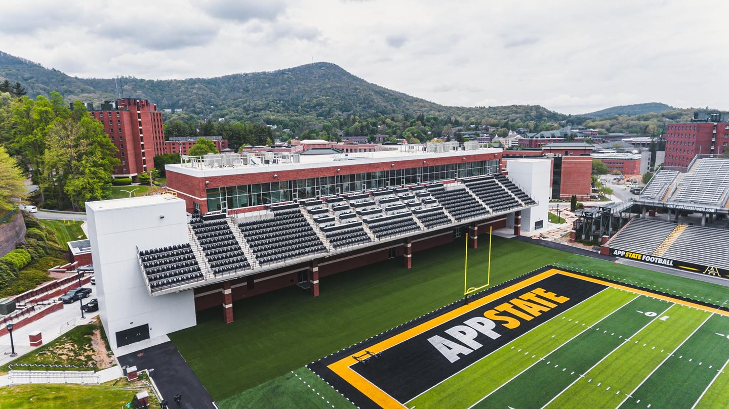 """App State Launches """"The Rock Garden"""" Premium Field-Level Seating"""
